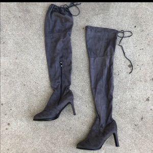 Size 10 Catherine Malandrino Thigh High Grey Boots